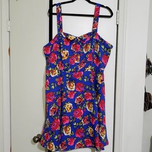 Forever 21 Dresses - Colorful Neon Sleeveless Skater Dress (Size 3X)